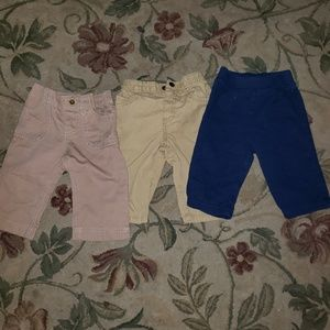 Other - 4/$25 Lot of 3 baby size 9 months Jean's/pants (g)